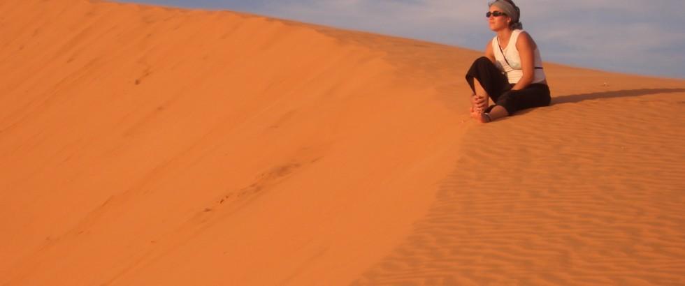 Dunes de sable rouge au Vietnam